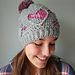 Three of Hearts hat pattern