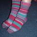 Mismatched Striped Socks pattern