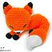 Sleepy Fox Amigurumi pattern