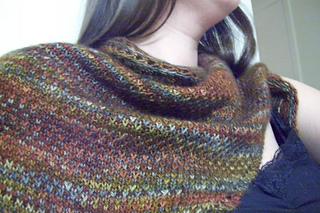 eye of partridge shawl.texture
