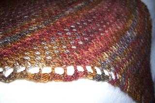 eye of partridge shawl.closeup
