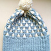 Clouds and Mountains hat 雲と山の帽子  pattern