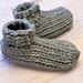 Tunisian Knit Booties pattern