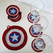 Captain America coaster pattern