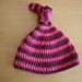 Topknot stripes baby hat pattern