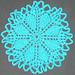 8-wedge Flower Doily pattern