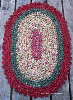 Ravelry Crochet Oval Rag Rugs Pattern
