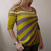 crazy stripes tee pattern