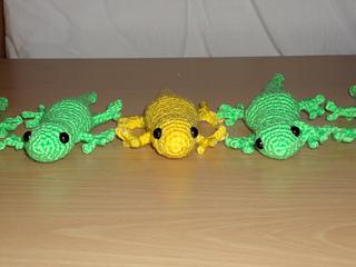 Ravelry: Salamander lizard pattern by Kamila Krawka Krawczyk | 240x320