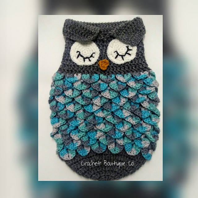 Ravelry Newborn Owl Sleep Sack Pattern By Forever Hooked By