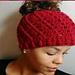 Spiral Messy Bun Hat pattern