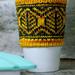 Leafometry Travel Mug Cozy pattern