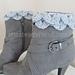 Crocodile Stitch Boot Cuff pattern