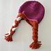 Frozen Inspired Anna Braided Hat pattern