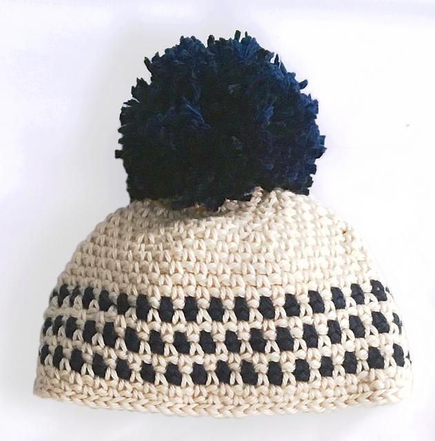 Baby/'s Beanie Hat in Moss Stitch