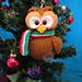 Owl Christmas decoration pattern