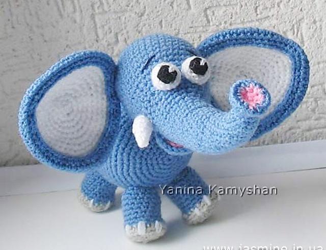Amigurumi Little Cute Elephant Free Crochet Pattern - Amigurumi ... | 490x640