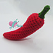 Chili pepper amigurumi pattern