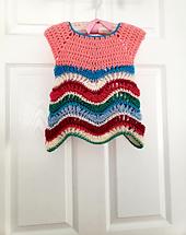 Promenade crochet baby dress