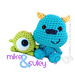 Monsters Inc. Baby Mike and Sulley pattern