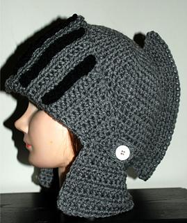 Ravelry: Men's Knight Helmet Hat pattern by Amy Lehman