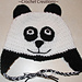 Panda Bear Child Ear flap Hat pattern