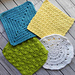 4 Crocheted Washcloths pattern