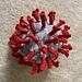 COVID-19 virus hat pattern