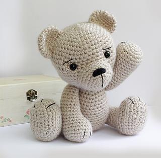 Sweet bear crochet plush pattern | Plüschmuster, Häkeln spielzeug ... | 314x320