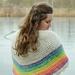 Rainbow shawl pattern