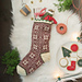 Winter Snowflake Stocking pattern