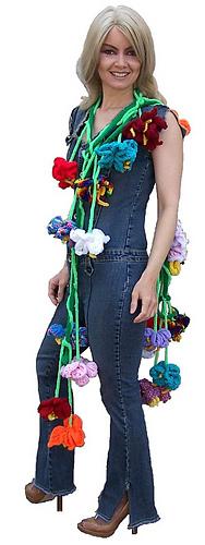 Fabulous Flower Boa - Crochet & Knit Pattern