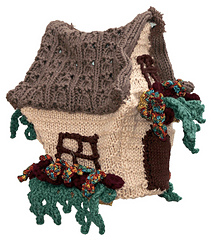 English Cottage Tea Cozy (side front) - Knitting Pattern