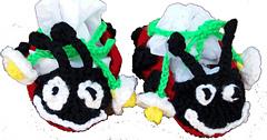Lady Bug Baby Booties - Crochet Pattern