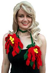 Poinsettia Scarf -  Crochet Pattern