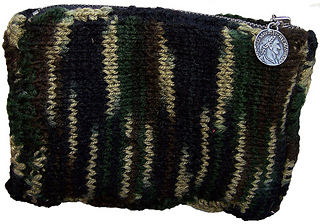 Camouflage Coin Purse - Knitting Pattern