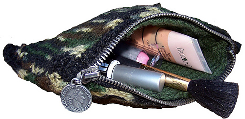 Camouflage Make Up Bag - Knitting Pattern