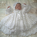 Daisy chain christening gown set pattern