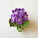 Violets Brooch pattern