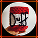 The Simpsons Duff Beer Coozy pattern