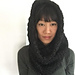 Super chunky hooded cowl pattern
