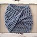 Twisted Crochet Neck Warmer pattern