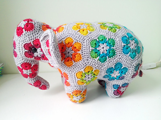 I made this African Flower elephant for my friend for Valentine's ... | 240x320