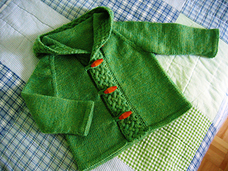 A cardigan for Merry - hood back