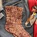 Feather socks pattern