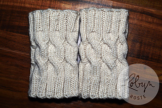 Ravelry: Simple Cabled Boot Cuffs pattern by Robyn Roste