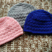 Slanted Shell Baby Beanies pattern