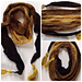 Skinny scarf or cowl for gradient yarns pattern