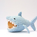 Crochet shark egg cozy pattern