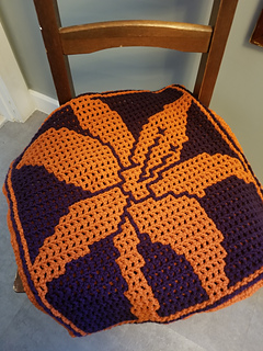 Bernat Cozy Style Pumpkin and Purple